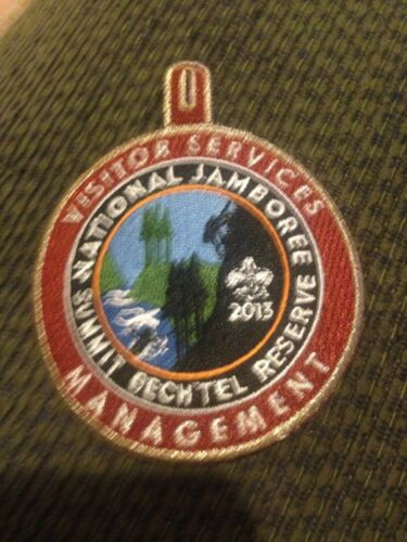 Mint 2013 National Jamboree Staff Visitor Services Management Patch GMY w loop