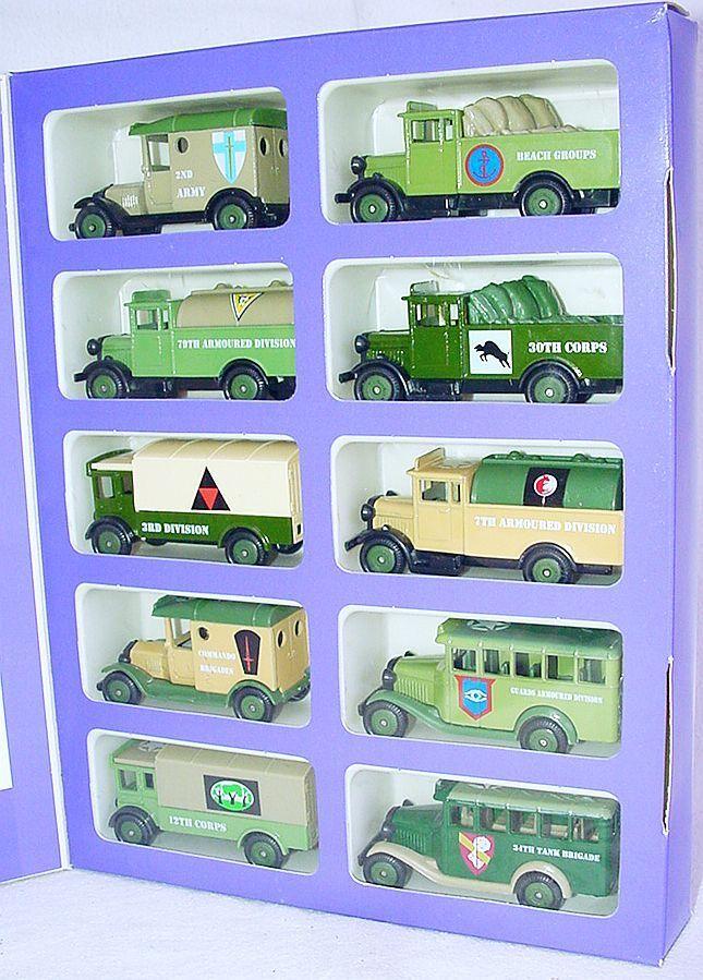Lledo Corgi 1 55 día D Colección Edición Limitada cameo especial de coche del ejército. MIB`94 Rara