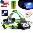 80000Lumen 5x CREE T6 LED Headlamp USB Rechargeable 18650 Headlight HeadLamp TR