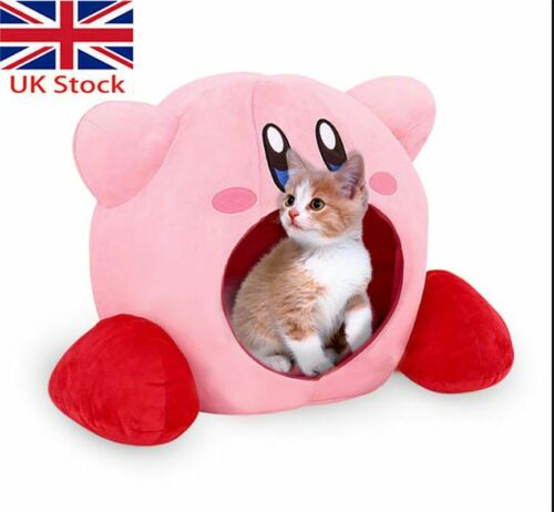 Super Kawaii Kirby Siesta Toe Box Plush Soft Pet Bed Calming Nest Xmas Gift Toy