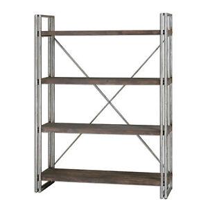 Luxe-Metal-Wood-Industrial-Etagere-Minimalist-Silver-Plank-Shelves-Rustic