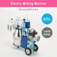 25l Electric Milking Milker Machine For Goats Cows 004 005mpa Adjustable