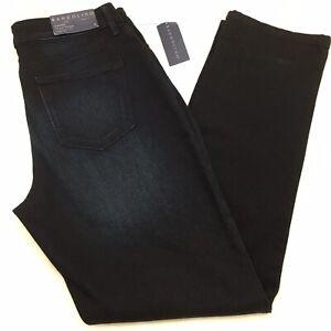 Bandolino Mandie Dk Blue Luxe 360' Flex Jean Sz 8 Natural Waist Straight Leg
