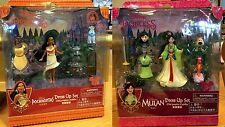 Mulan & Pocahontas Polly Fashion Dress Up Play Set Disney World Theme Parks NEW