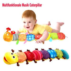 Baby-Spielzeug-mit-Musik-Wurm-Raupe-Lamaze-Plueschtier-Motorik-Mehrfarbig