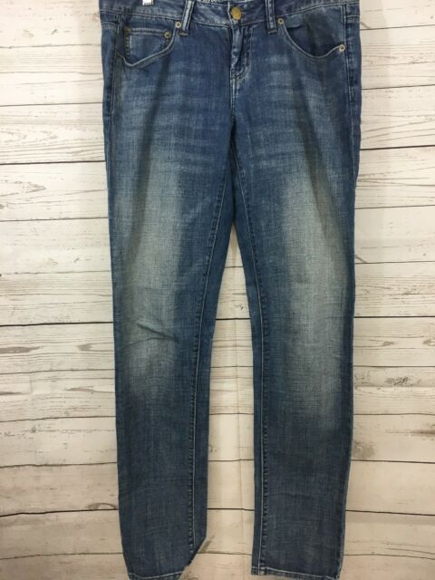 American Eagle Jeans Womens Blue Sz 6 Denim Regular Straight Leg Distressed