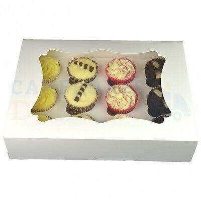 Ultima Raccolta Di 12 Economia Finestra Cupcake Box + Divisore Più Economico Su Ebay Scegli La Quantità-mostra Il Titolo Originale