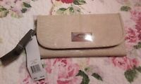 Nicole Miller Faux Snake Wallet Sand Nwts $45