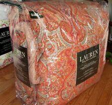 RALPH LAUREN Queen Comforter Set 4PC $400 WEXFORD EQUESTRIAN PAISLEY red
