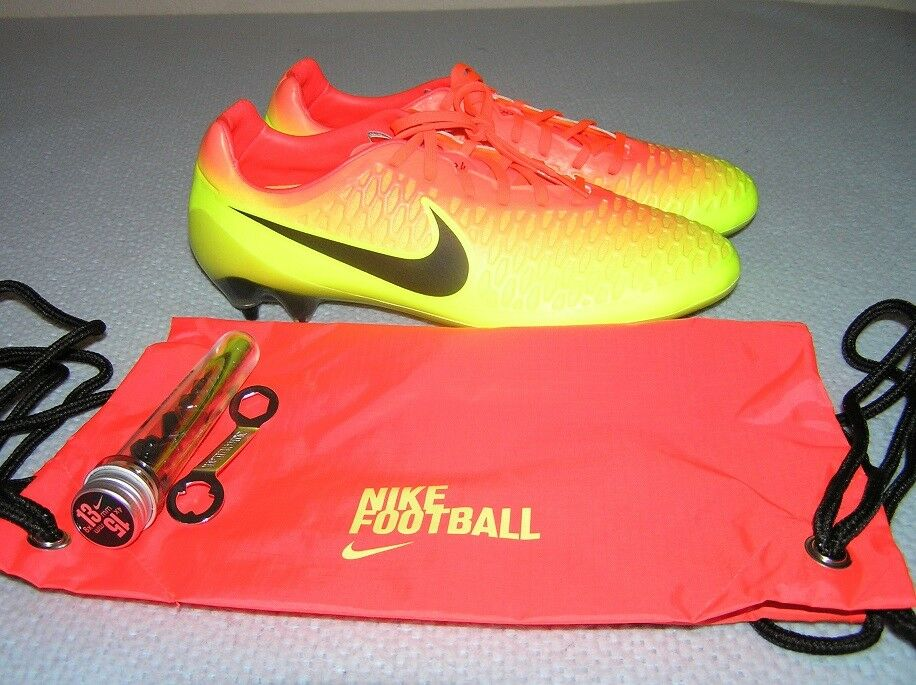 Nike Magista Opus ACC SG 649233 808 Volt/Fire Orng Soccer Cleats 12.5 (30.5 CM)