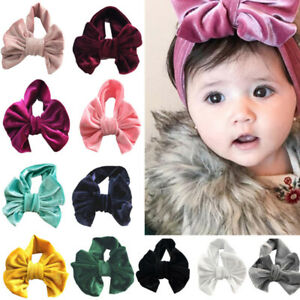 Cute Baby Girls Toddler Bunny Bow Knot Turban Headband Kids Hairband Head Wrap