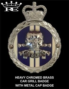 Royale Heavy Chromed Brass Car Badge - 17 / 21 Lancers Death Or Glory - B5.017