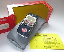 """Fiat Dino Spyder """"TECHNO CLASSICA ESSEN 1996"""" blau blue, Progetto in 1:43 boxed!"""