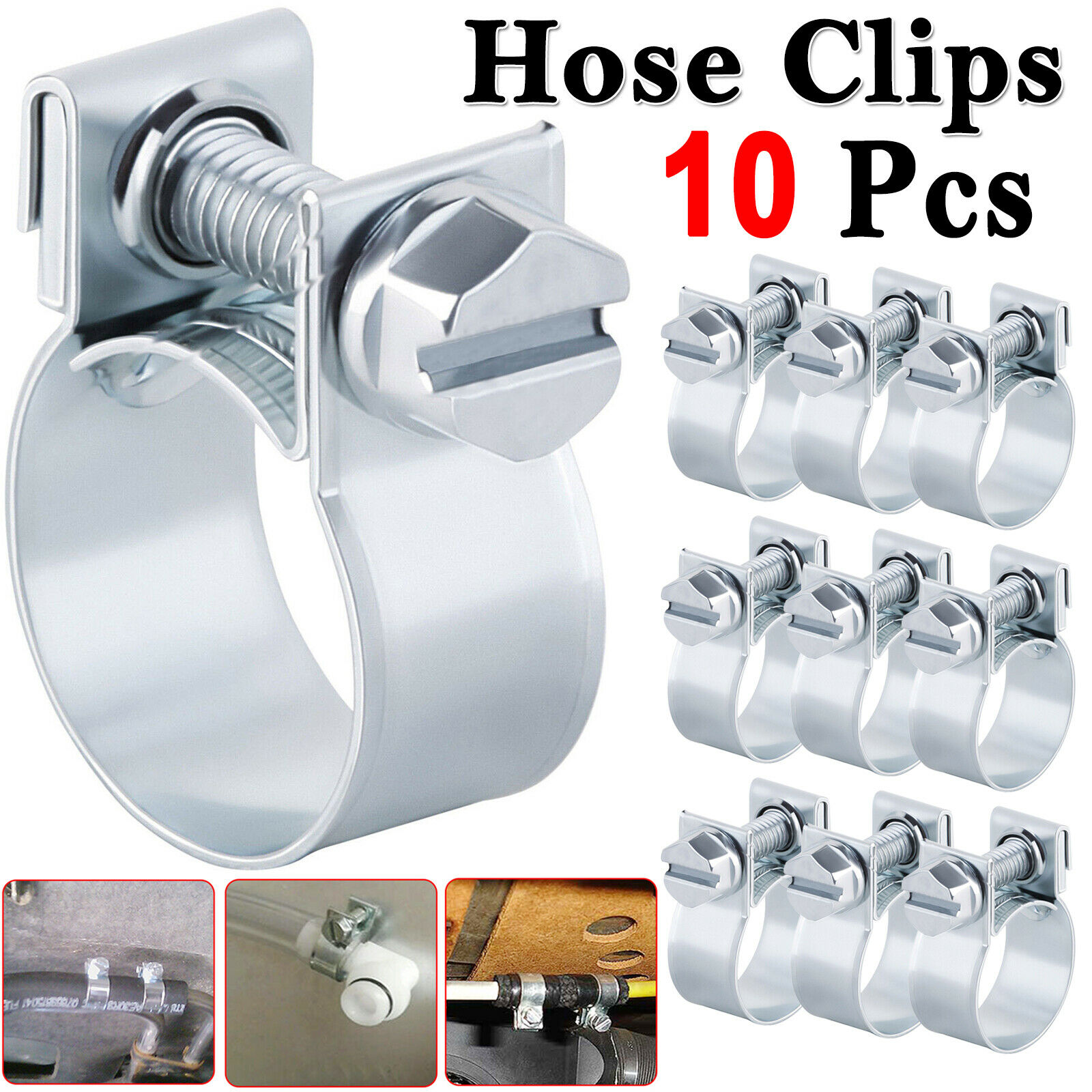 70 x Assorted Mini Fuel Line Jubilee Hose Clips for Diesel /& Petrol Pipes