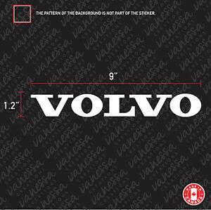 2X  VOLVO logo sticker vinyl decal