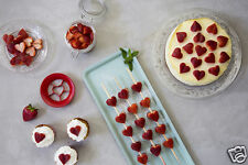 Sweet Heart Strawberry Cutter Fruit Decorating Backing Kitchen Gift Peleg Design