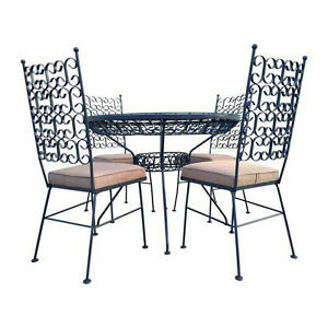 Mid Century Modern Arthur Umanoff Patio Dining Set Table