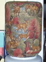 Deer Fall Woods Buck Doe 5 Gallon Water Cooler Bottle Cover Kitchen Decoration
