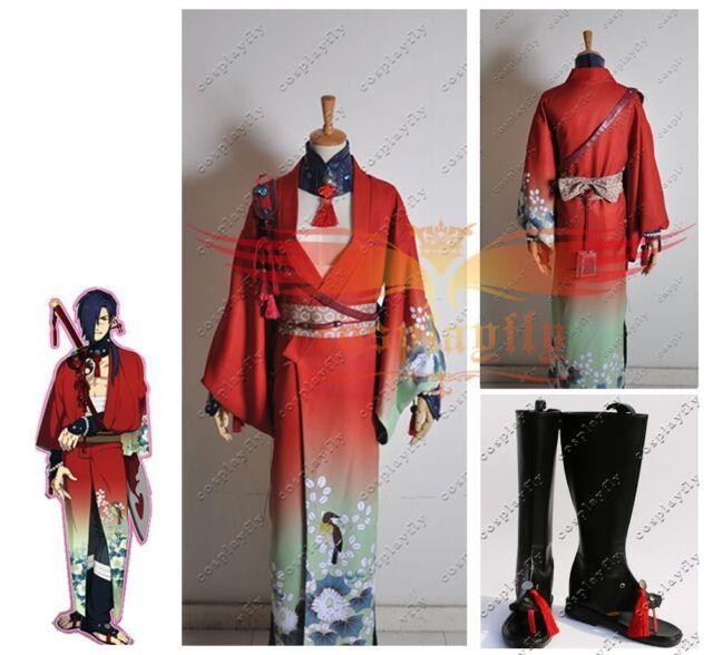 DMMD Dramatical Murder koujaku Kimono Cosplay Costume and shoes boots full set