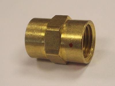 1/4 NPT x 1/4 BSP Female Brass Bush Connecting Adapter for Pneumatics and Fluid