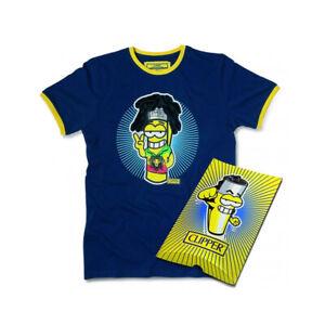 T-Shirt Magic aus Baumwolle Clipper Rasta Rundhals Blau Größe L Unisex