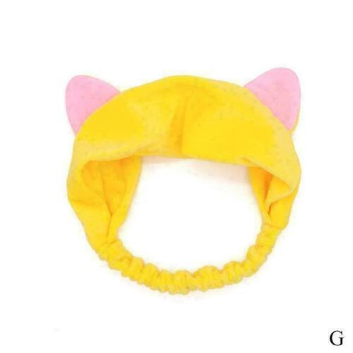 Katzenohren Haarband Stirnband Kopfschmuck Waschen Head Make Stretchy Wrap D5C7
