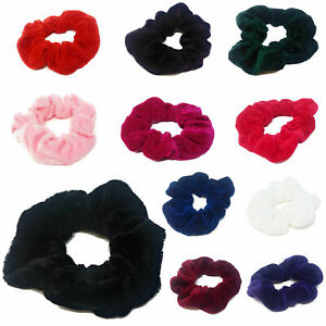 Womens-Hair-Scrunchies-Ladies-Girls-Elastic-Scrunchy-Bobbles-Velvet-Sports-Band