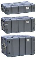 NJS Short ABS Rack Flight Case Front and Rear Opening - Choice of 2U 4U & 6U
