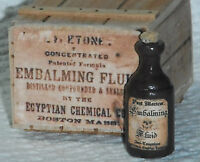 Dollhouse miniature handcrafted Embalming fluid and box wood 1/12th scale