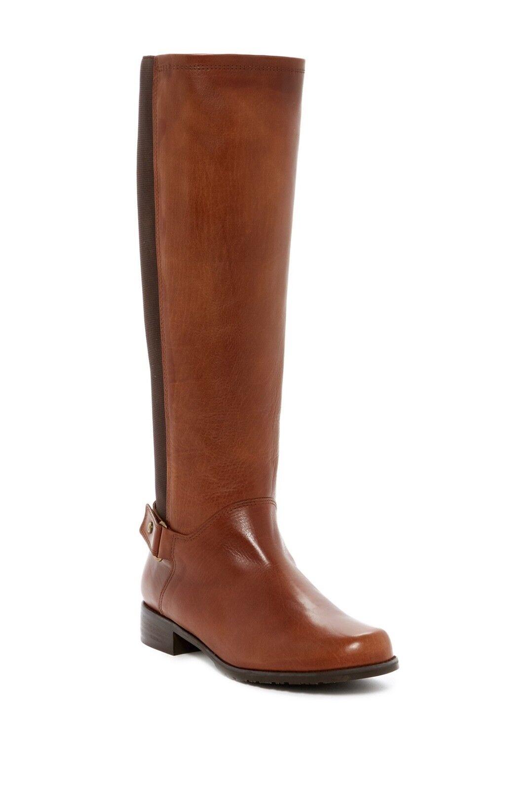 Size 5.5 Stuart Weitzman Mount Stretch Knee High Brown Pelle Riding Boot  665