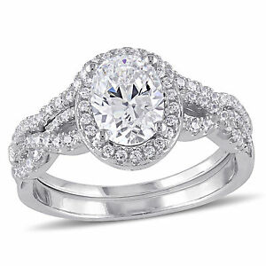 Sterling-Silver-Cubic-Zirconia-Bridal-Ring-set