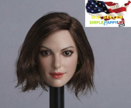 1//6 female head sculpt Anne hathaway GC012 B for Phicen Hot toys ❶US IN STOCK❶