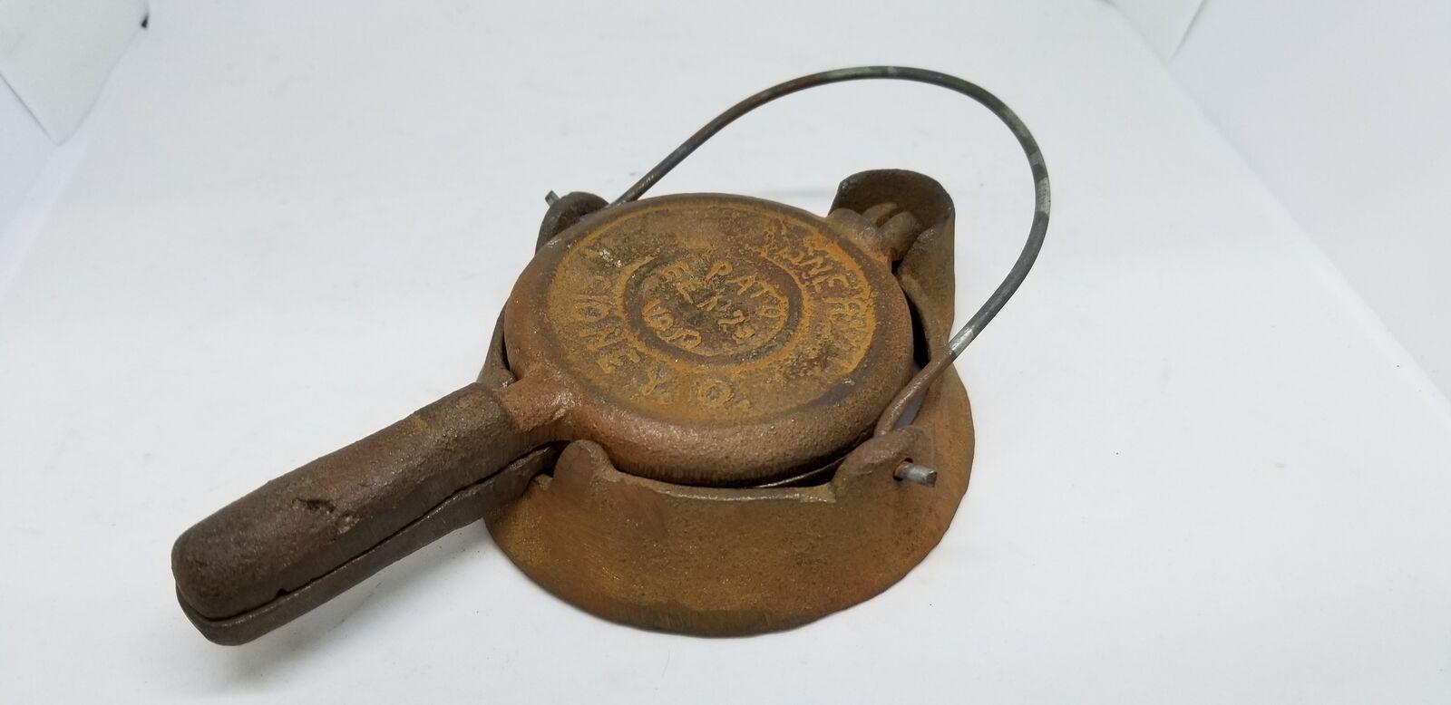 Antike spielzeug wagner 1910 gusseisen waffeleisen