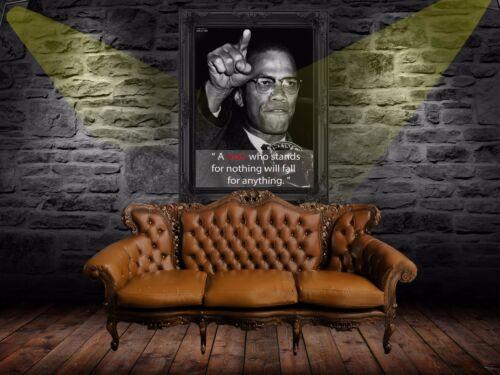 Inspirational Cool Malcolm X Quotes Poster  A0-A1-A2-A3-A4-A5-A6-MAXI 514