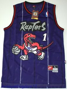 NWT Throwback Hardwood Jersey TRACY McGRADY 1 Toronto Raptors Purple ... bd2f14d4b