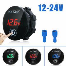 Car Motorcycle Led Panel Digital Voltage Volt Meter Display Voltmeter Dc 12v 24v