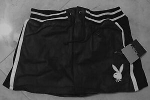 Playboy-Women-039-s-Leather-Skirt-Skort-Small-Sexy-Embroidered-Playboy-Logo-Ladies