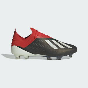 c9baf4d0b92 Adidas Men s X 18.1 FG Soccer Cleats (Core Black Active Red) BB9345 ...