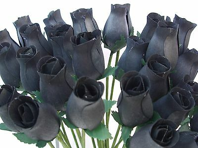 Halloween Decorations Wholesale 30 Wooden Roses Artificial Flowers Favours