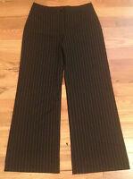 Chico's Black Pin Stripe Dress Pants Womens Size 2 Reg