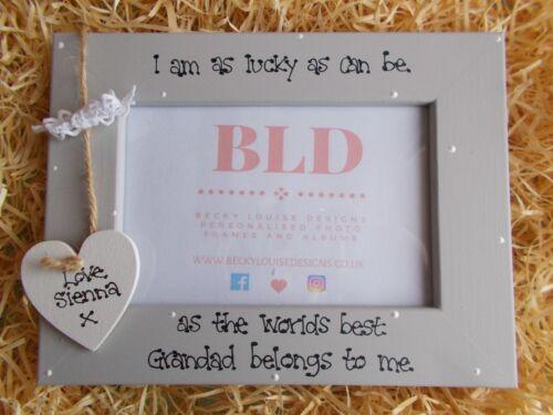 Personalised Worlds Best Grandad Photo Picture Frame Keepsake Gift 6x4