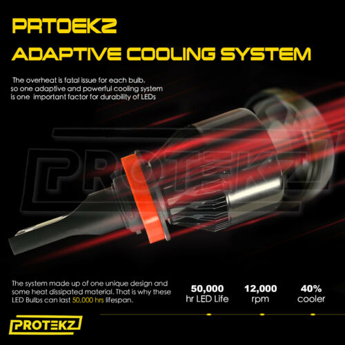 Protekz LED Headlight Kit High 9005 6000K 1200W for 2008-2014 Lexus IS F