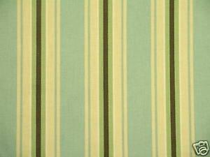 Kingsway Riley Light aqua ,Brown & sage Classic Stripe Upholstery Drapery Fabric