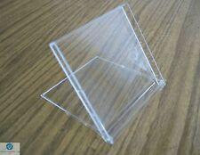 20 Mini Calendar Case Clear Jewel 5mm Free Standing 90mm X 95mm NEW HQ AAA