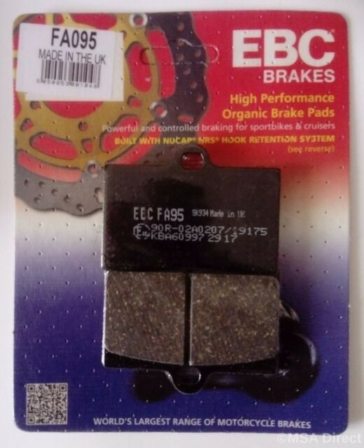 Cagiva Planet 125 (1999 to 2003) EBC Organic FRONT Disc Brake Pads (FA95) 1 Set