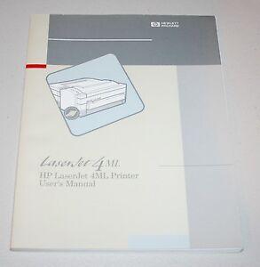 original users manual for hp laserjet 4ml printer from 1993 very rh ebay com 18 HP Vanguard Manual hp laserjet 4ml service manual