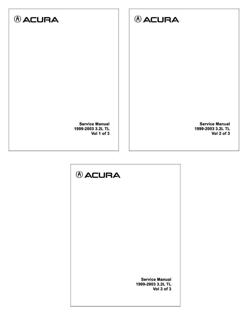 1999 2000 2001 2002 2003 Acura 3.2L TL Shop Service Repair Manual Book OEM  | eBay