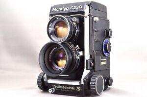 Mamiya-C330-PRO-S-TWIN-LENS-REFLEX-amp-Sekor-DS-105mm-f-3-5-Blue-Dot-lente-eccellente-163