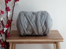 Grey* 100%  Merino Wool Giant Jumbo Yarn Extreme Big Arm Knitting, 100 g - 1 kg