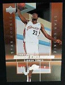2003 04 Upper Deck Rookie Exclusives 1 Lebron James Rookie Ebay